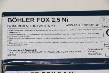 BÖHLER FOX 2,5NI 4,0 x 450 Rod Electrodes 180 pcs. i_02720251