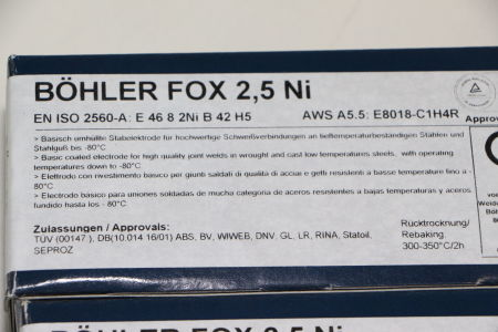 BÖHLER FOX 2,5NI 4,0 x 450 Stabelektroden 180 Stück i_02720251