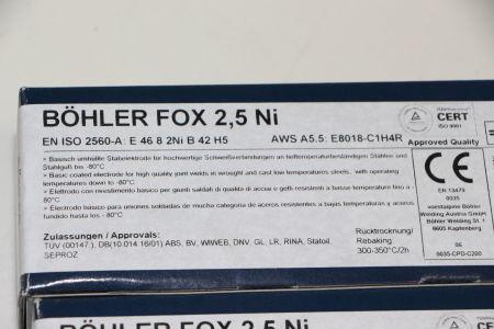 BÖHLER FOX 2,5NI 4,0 X 450 Stabelektroden 180 Stück i_02720259