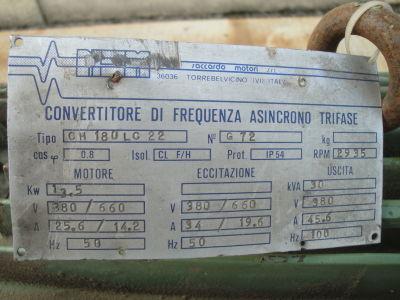 Convertitore di frequenza NSM SACCARDO 30KVA 100HZ i_02804192