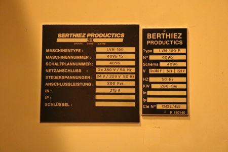 Centre de fraisage et tournage vertical CNC BERTHIEZ LVM 160 P i_02815810