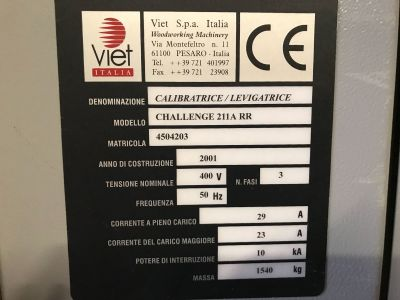 VIET CHALLENGE 211 A RR Calibrating Machine i_02976417