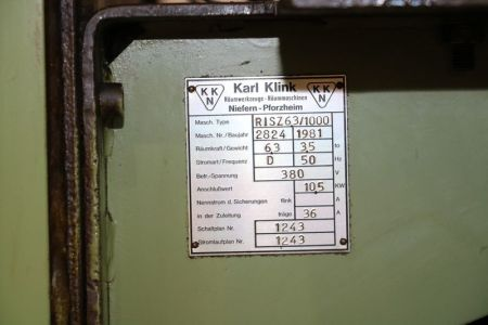 Brocciatrice verticale KARL KLINK RISZ 6,3x1000x400 i_03011879