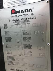프레스 브레이크 AMADA HFE100 CNC i_03035886